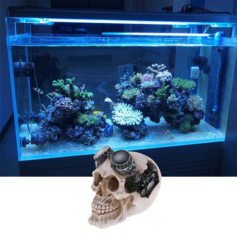 Aquarium Decorative Resin Skull Crawler Dragon Lizards Fish Tank Decoration 2