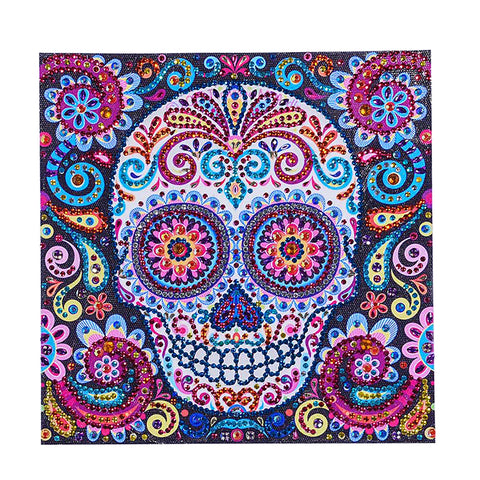 Image of Special Shaped Skull Diamond Painting DIY 5D Cross Stitch Kits Arts Craft 03