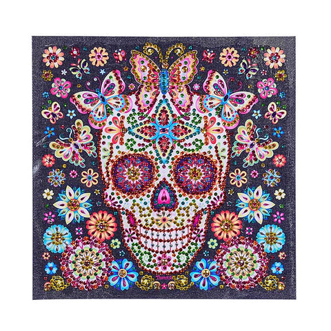 Image of Special Shaped Skull Diamond Painting DIY 5D Cross Stitch Kits Arts Craft 02