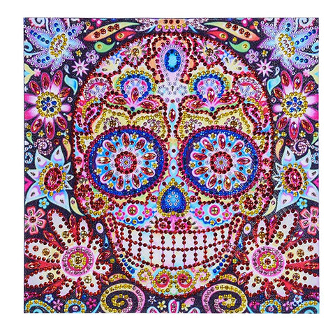 Image of Special Shaped Skull Diamond Painting DIY 5D Cross Stitch Kits Arts Craft 01