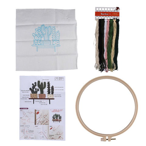 Full Range of Embroidery Starter Kit with Pattern Cross Stitch Crafts EB04