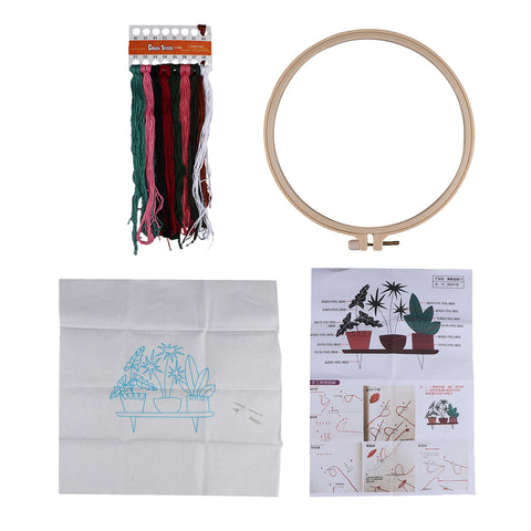 Full Range of Embroidery Starter Kit with Pattern Cross Stitch Crafts EB03