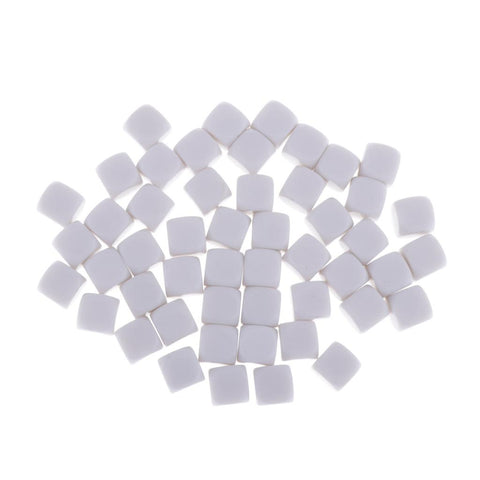 50Pieces Square Edge Blank Dices D6 Six Sided RPG Gaming Dice Gift 18mm