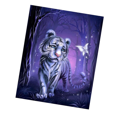 5D Diamond Painting Animals Tiger Butterfly Embroidery Cross Stitch Decor
