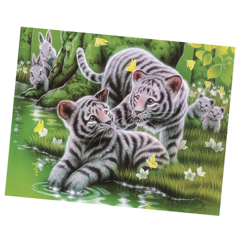 5D Diamond Painting Animal Mosaic Pictures Home Ornaments Tiger