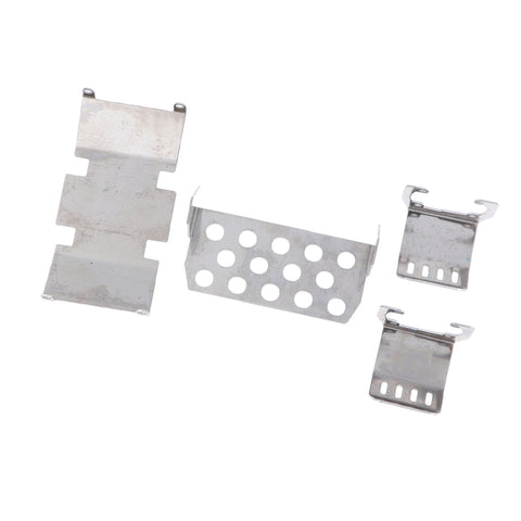 4pcs 1/10 RC Car Chassis Skid Plate for Axial scx10 90046 90047 90059 90060