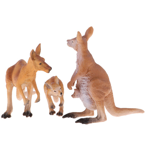 Wild Animals Action Model Toy Kangaroo Figure Home Table Ornaments Gift