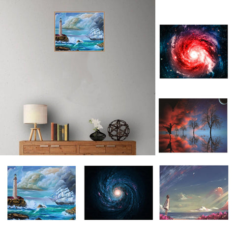 Image of Full Drill 5D Diamond Painting Cross Stitch Kit Home Decor Starry Sky 1
