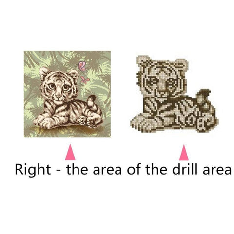 DIY 5D Diamond Embroidery Painting Cross Stitch Kit Arts Crafts Tiger