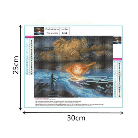 Full Drill 5D Diamond Painting Embroidery Cross Stitch Kit Snow