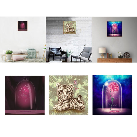 DIY 5D Diamond Embroidery Painting Cross Stitch Kit Arts Crafts Flower 1