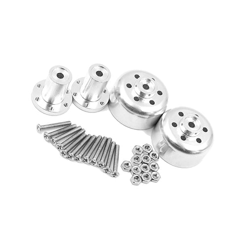 28pcs Metal Wheel Hub + Front and Rear Connector and Accessory