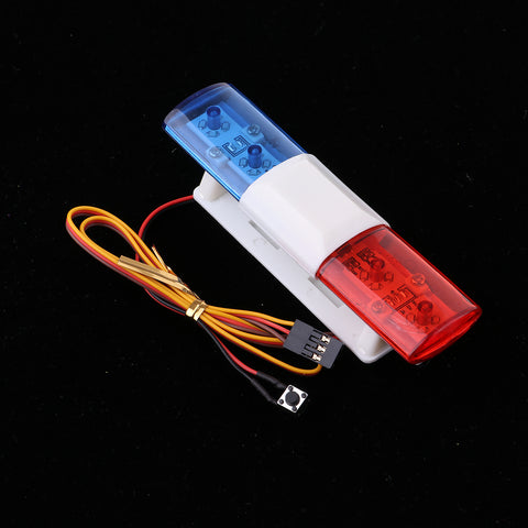 RC Car Led Police Flash Light Alarming Light Lamp for 1/10 1/8 Model Car
