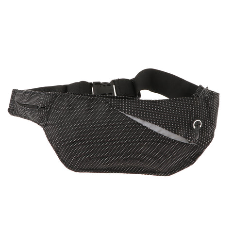 Running Belt with Bottle Gym Fitness Travel Belly Waist Pouch Black