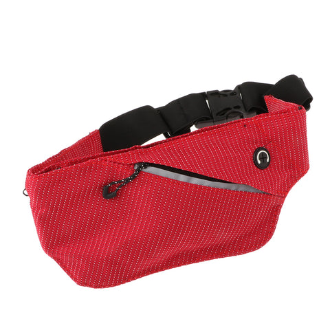 Running Belt with Bottle Gym Fitness Travel Belly Waist Pouch Red