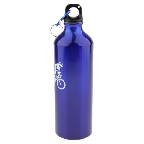 700ML Outdoor Cycling Water Bottle Aluminum Alloy Bicycle Kettle Blue