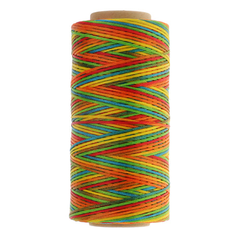 1 Roll 200m 210D Flat Waxed Polyester Thread for DIY Leather Sewing 1mm S11