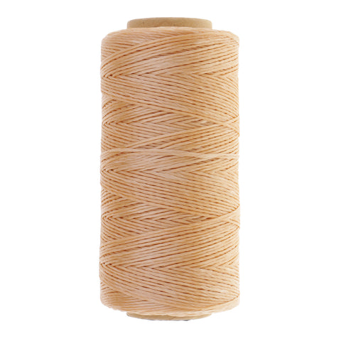 0.8mm Round Waxed Polyester Sewing Thread Spool DIY Jewelry Making Beige