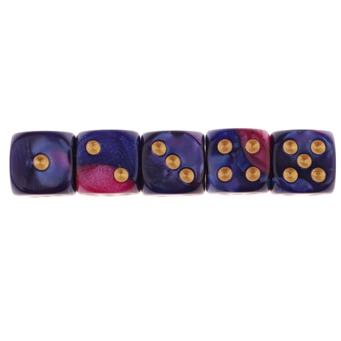 5x6-sided Game Dice 16mm Dice for Board Games and Teaching Math Purple blue