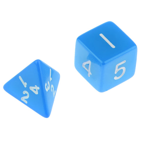 Multi-sided Dice D&D Dice Game Polyhedral Dice D4-D30 for Table Game blue