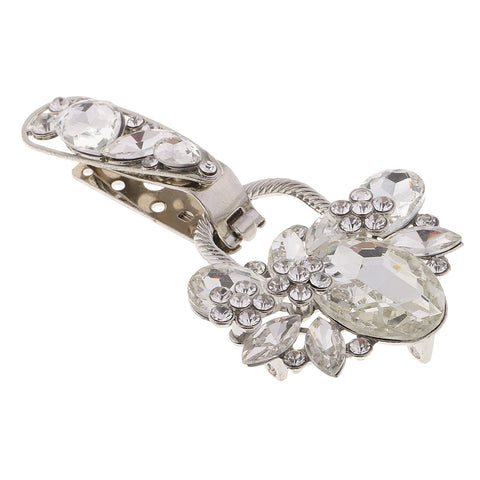 Crystal Rhinestone Duck-mouth Buckle for Clothing Coat Sewing Button White