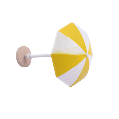 Image of DIY Handcrafted Dollhouse Beach Miniature Umbrella Sunshade Models Yellow+M