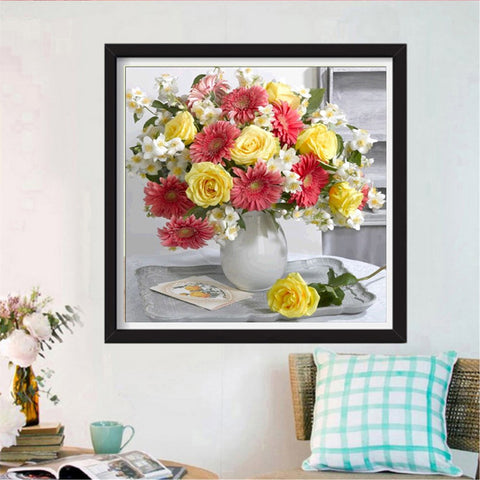 5D DIY Full Drill Diamond Painting Kit Embroidery Flower Pictures Flower 1