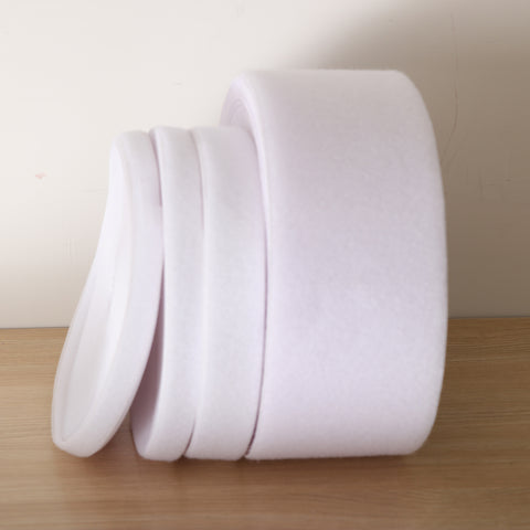 Image of 25m x Loop Fastener Fastening Tape Self Adhesive Tie, White, 2cm