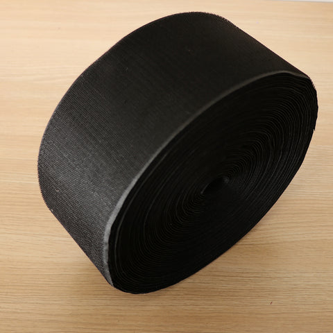 25m x Roll Hook Fastener Fastening Tape Self Adhesive Tie, Black, 10cm