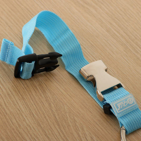 Add-A-Bag Luggage Strap Jacket Gripper, Baggage Suitcase Straps Belts Sky Blue