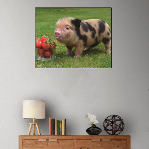 5D Diamond Painting Embroidery Cross Stitch Kit Home Decor Pig