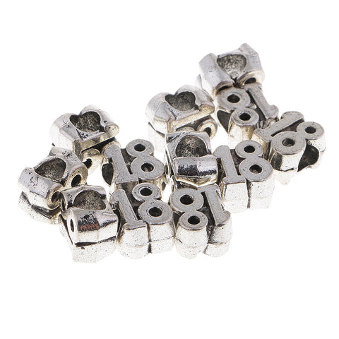 12pcs Alloy Loose Spacer Beads for DIY Jewelry Hand Making 18
