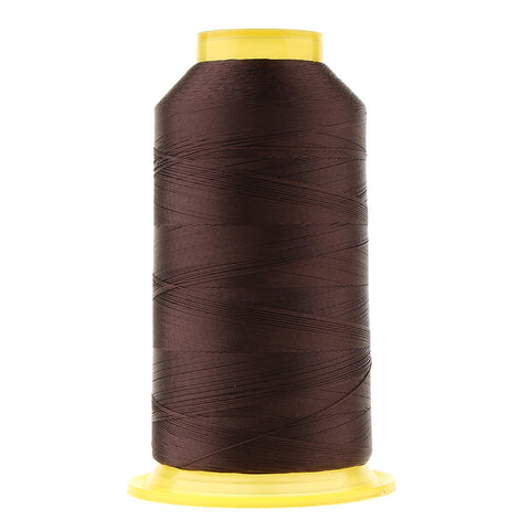2154 Yards Strong Polyester Sewing Thread Spool 150D 3 Ply Craft Dark Coffee