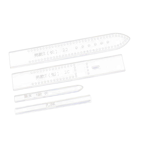 4pcs Leather Craft Clear Acrylic Watch Strap Band Stencil Templates E 20mm