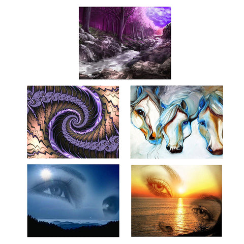 5D DIY Diamond Painting Full Drill Rhinestone Embroidery Kit Eye Landscape 1