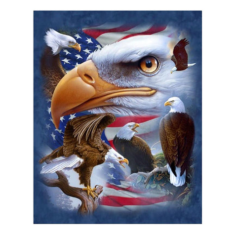 5D Full Drill Diamond Painting Embroidery Cross Stitch Kits Eagle