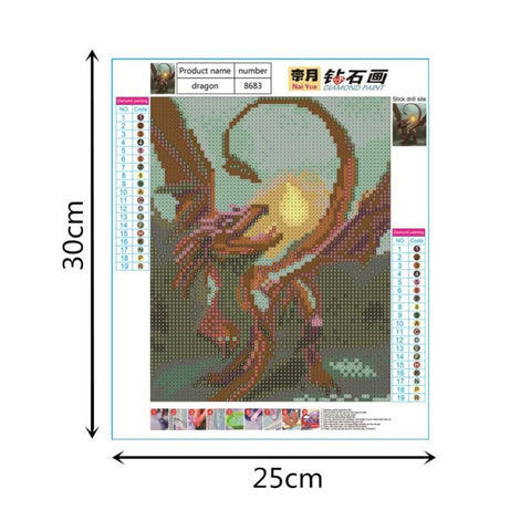 5D Full Drill Diamond Painting Embroidery Cross Stitch Kits Dragon