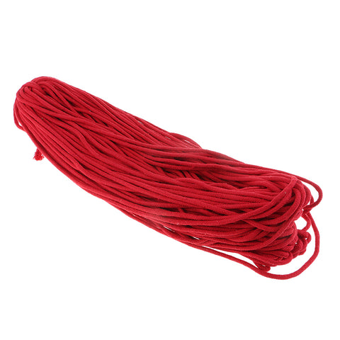 1 Piece 5mm Round Cotton Cord for Jewellery Making Beading Craft Red