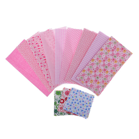 39Pcs/set Floral Cotton Fabric Patchwork Cloth For DIY Craft Sewing Pink