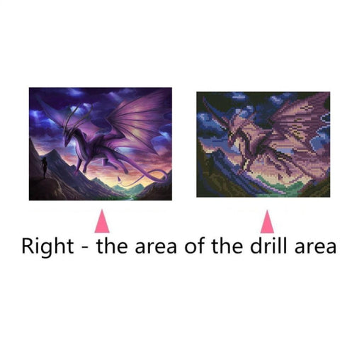 Image of Full Drill DIY 5D Diamond Painting Embroidery Kit Home Room Decor Dinosaur