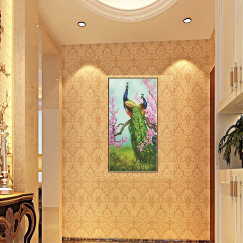 DIY 5D Diamond Painting Embroidery Cross Stitch Kit Home Decor Peacock 1