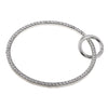 Metal Ring Purse Handles with Spring Gate O-Rings for Handbag Making Silver