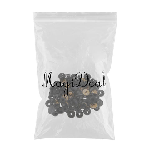 30 Sets Metal Fasteners Snap Rivets Buttons for Leather Crafts Black