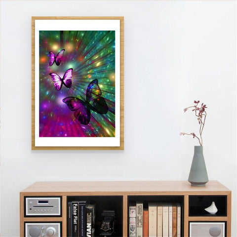 Full Drill Diamond Painting Animal Pictures for Home Decor Butterfly
