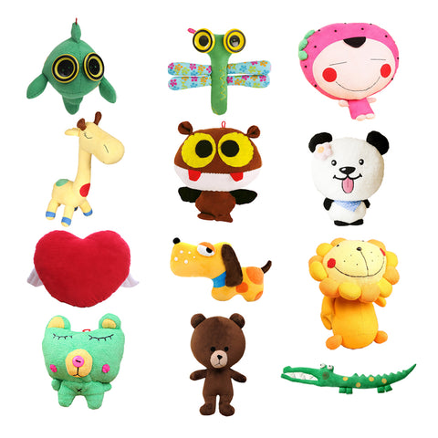 Cartoon Doll DIY Handmade Plush Stuffed Toy Making Kit Sewing Crafts