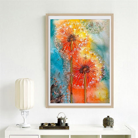 Full Drill Diamond Painting Animal Pictures for Home Decor Dandelion