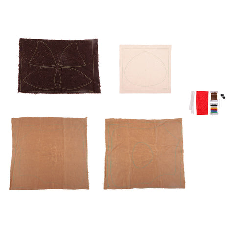 Image of 1 Set Flannel Fabric DIY Plush Toy Making Kit Hand Craft for Beginner Libra