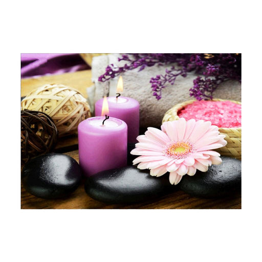 DIY 5D Diamond Painting Embroidery Cross Stitch for Home Decor Candle Flower