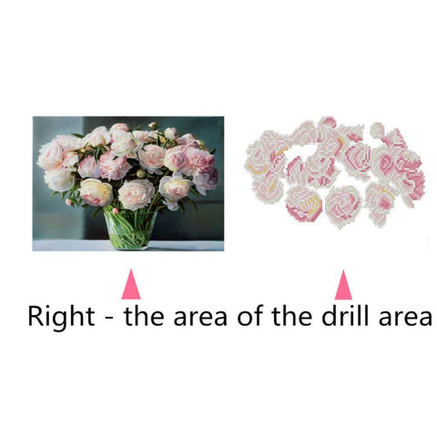 Image of DIY 5D Diamond Painting Embroidery Cross Stitch for Home Decor Chinese Rose