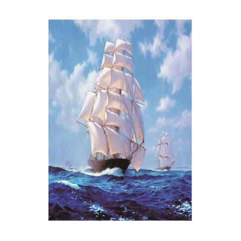 Image of Saitboat DIY 5D Diamond Painting Embroidery Cross Stitch for Home Decor